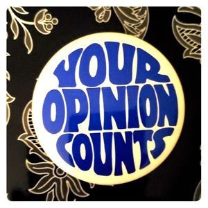 👍YOUR OPINION COUNTS BUTTON